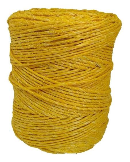 Fio De Sisal Artesanato Amarelo 700/1 160 Metros