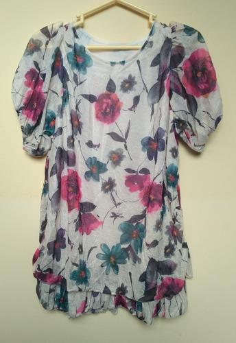 Blusa Elegante Floral Talla M Con Forro Interior Nuevo Stock