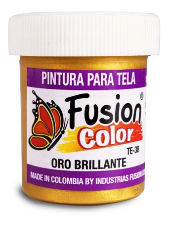 Imagen 1 de 3 de Pintura Para Tela Metálica X 30 Cc Fusion Color