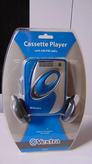 Walkman (rádio Am-fm+fita K-7) *vextra Vx3125. Novo!lacrado!