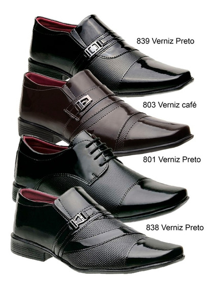 Kit 4 Sapatos Social Masculino *801/803/838/39* Black Friday