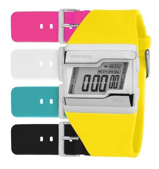 Kit Relógio Mormaii Unissex Troca Pulseiras Fzca/t8a Digital