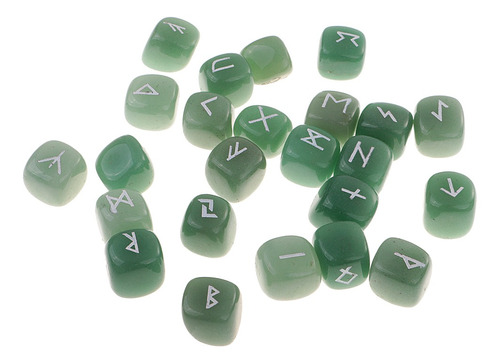 Runa Esculpida À Mão Pedra Preciosa Verde