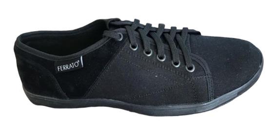 Tenis Ferrato, Modelo 7652 Negro, Ultraligero, Textil