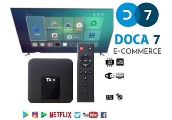 Kit - Tv Smart Box Tv Tx9 Android 9.0 4g Ram + Mini Teclado