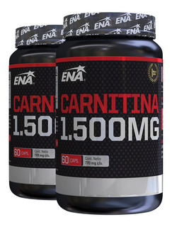 Carnitina Ena 1500 Mg Burn X 60 Cap Quemador De Grasa X 2 Un