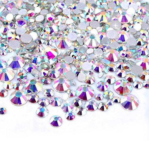 Zealer 2 Mm - 6 Mm Resina Cristal Ab Redondo Arte 450 Piezas