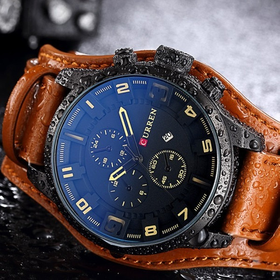 Relógio Masculino Curren Importado Original Couro Barato