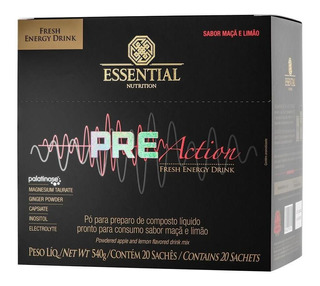 Pre-action Energy Drink (20 Sachês) - Essential Nutrition