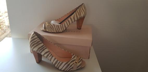 Sapato Zebra Style Ouro- Jorge Bischoff