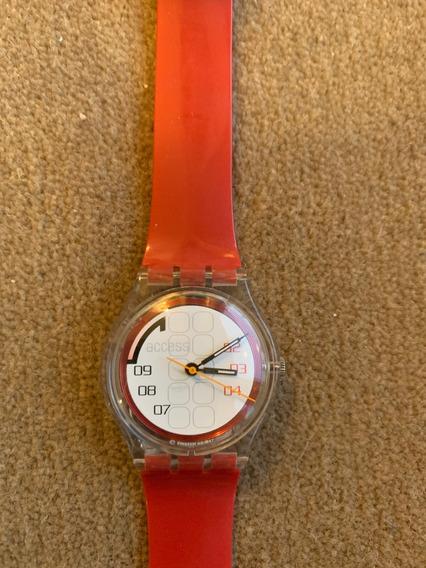 Relogio Swatch,access. Na Caixa Com Manual. Ano 1997.sem Uso