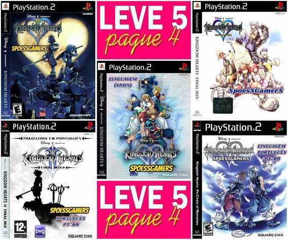 Kingdom Hearts Collection (5 Jogos) Ps2 Desbloqueado Patch