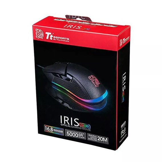 Mouse Iris Optical Rgb 5000dpi Mo-irs-wdohbk Thermaltake +nf