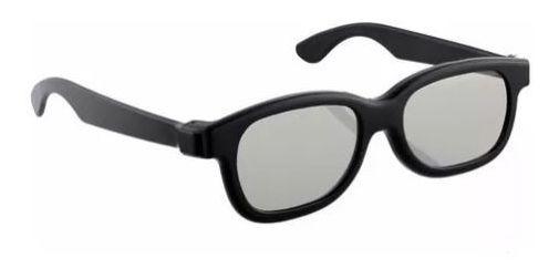 Óculos 3d Passivo Preto Semp Toshiba Para Tv 3d