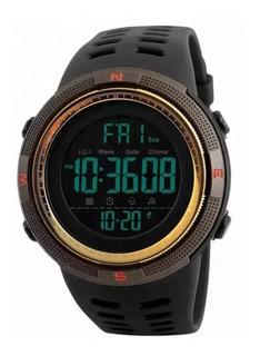 Reloj Resistente Al Agua Skmei Cronometro Y Alarma