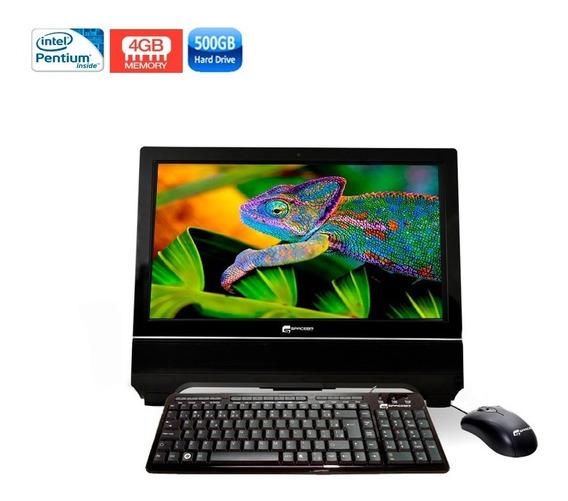 Computador Pc All In One Inte 4gb Hd 500gb + Wi-fi