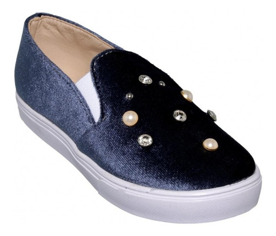 Tenis Casuales Marca Baby Candy Velutto Gris 4714