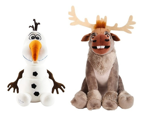 Pelúcia Disney Frozen Rena Sven + Olaf 20 Cm
