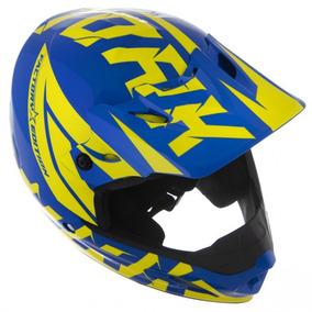 Capacete Pro Tork Th1 Factory Edition - Azul E Amarelo Azul/
