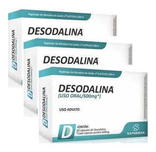 Emagrecedor Termogênico Desodalina Kit 3 Unid 60 Cáp Cada