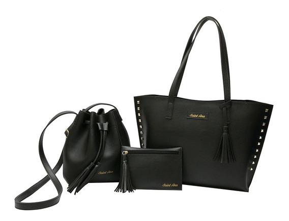 Kit 3 Bolsas Femininas Promoção Saint Ana Bags