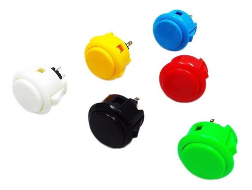Imagen 1 de 3 de Kit De 10 Botones Tipo Sanwa Varios Colores Envio Gratis
