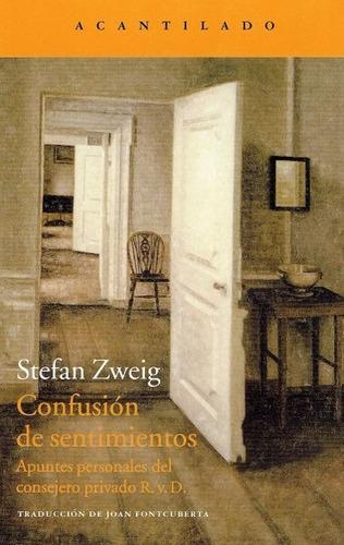 Imagen 1 de 3 de Confusión De Sentimientos, Stefan Zweig, Acantilado