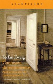 Confusión De Sentimientos, Stefan Zweig, Acantilado