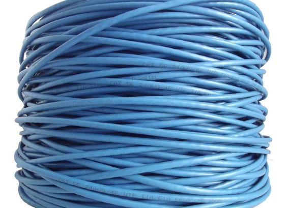 Cabo Rede Cat5e Azul Rolo 40m Utp Lan Internet Net Metros