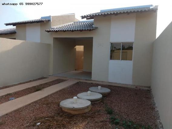Casa Para Venda Em Várzea Grande, Jardim Paula 2, 2 Dormitórios, 1 Banheiro, 2 Vagas - 131_1-1261820