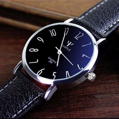 Relógio Barato Promoção Feminino Yazole Pulseira Couro Luxo