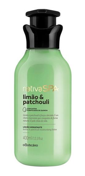 Nativa Spa Limão E Patchouli Loção Hidratante Corporal Desodorante, 400ml
