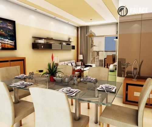 Imagem 1 de 30 de Apartamento Com 3 Dormitórios À Venda, 124 M² Por R$ 887.585,00 - Canto Do Forte - Praia Grande/sp - Ap2582