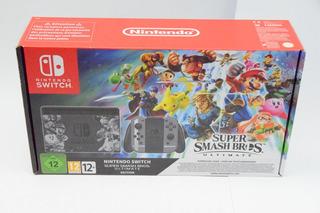 Nintendo Switch Edicion Super Smash Bros + Juegos+ Control