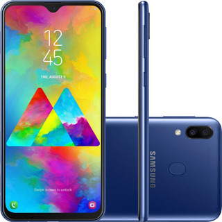 Smartphone Samsung Galaxy M20 Azul 64gb Pronta Entrega