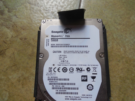 Disco Duro Laptop Seagate Momentus Thin 2.5 500gb (25vrds)