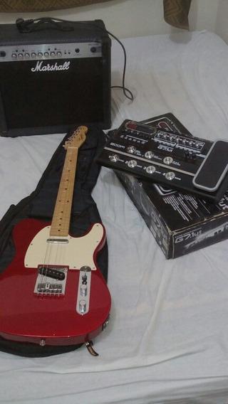 Kit De Guitarra, Pedaleira E Amplificador