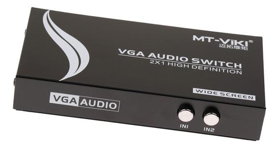 2 Em 1 Out Vga Manual Do Compartilhando Seletor Mudar Switch