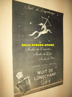 Clipping Antigua Publicidad Extracto Perfume Nuit De Longcha