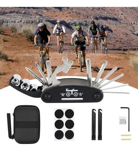 Imagen 1 de 8 de Kit De Herramientas Para Bicicletas Reparación 16 En 1