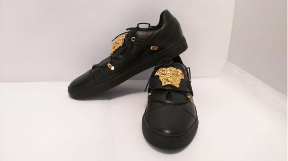 Tenis Medusa Sneakers Hombre Versace Negros Originales T: 11