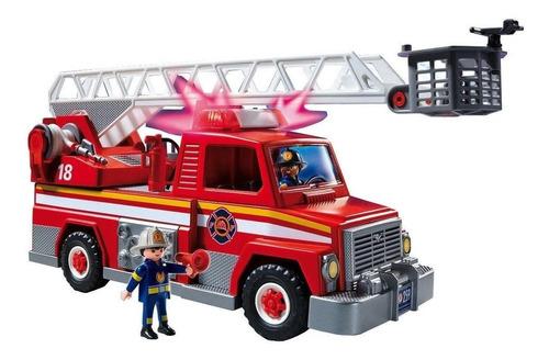 Playmobil Bombero Rescate Luz/sonido Int 5682 Original Intek