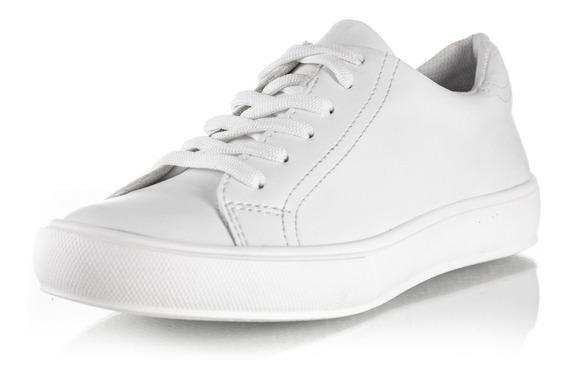 Zapato Zapatilla Mujer Urbano Sneaker Cuero Lisas Barcelona