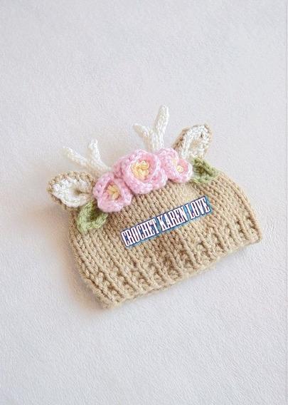 Gorro Tejido A Crochet De Reno