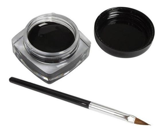 Mini Delineador Em Gel + Mini Pincel - Preto