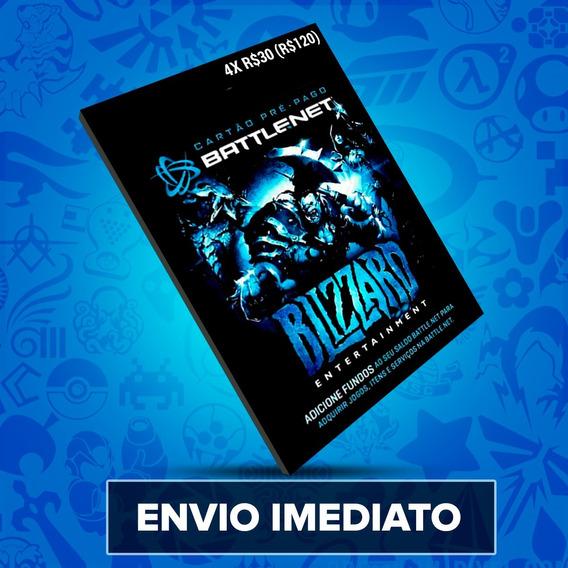 Cartão Battle.net Blizzard Wow R$ 120 (4x R$30) Reais