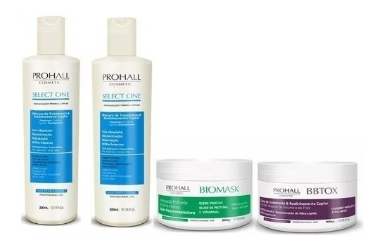 Prohall 2 Select One Selagem 300ml +biomask 300g+bbtox 300g