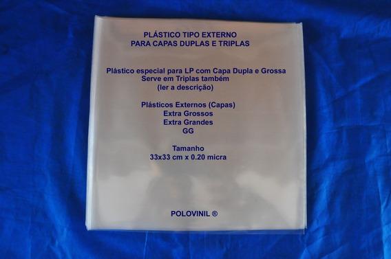 Lp Vinil Plastico Capa Tripla* Ou Dupla 33x33 Gg 10 Un