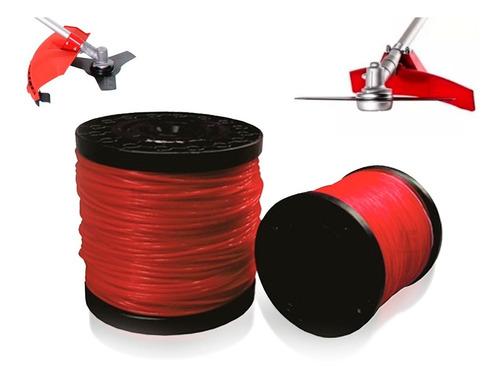 Fio Nylon Roçadeira Vermelho Redondo 2kg 2.0mm - Mundi