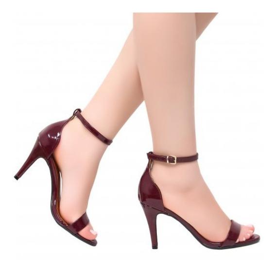 Sapato Clássico Salto Alto 9cm Preto Sintético Verniz Original Produção Luxo Top Estilo Despojado E Elegante